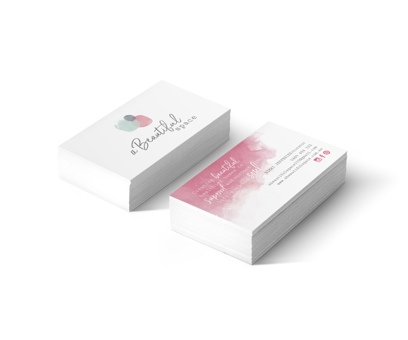 A Beautiful Space South Australia Business Card Design by Billie Hardy Creative