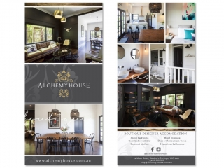 Alchemy House Hepburn Springs Business Leaflet Design by Billie Hardy Creative