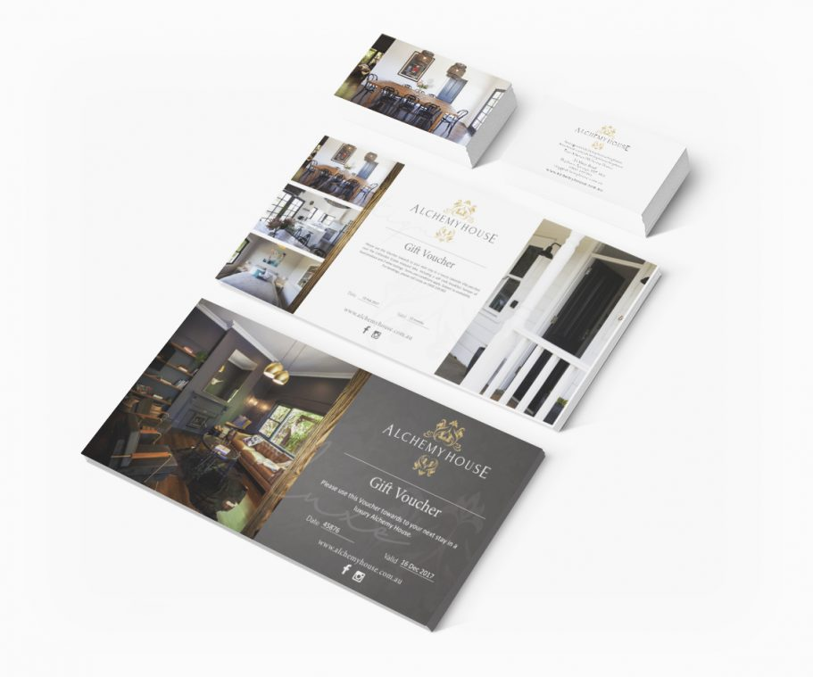 Boutique Accomodation Brochure Design and business branding by Tasmanian graphic designer Lara Hardy from Billie Hardy Creative