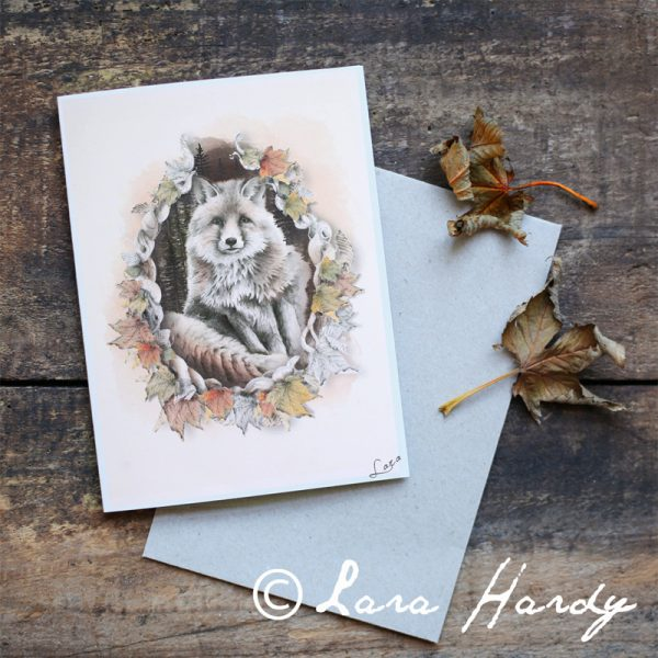 Woodland nursery red fox art print by Tasmanian artist Lara Hardy From Billie Hardy Creative