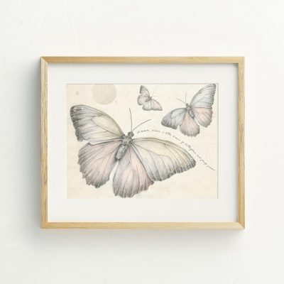 Butterfly Girls Nursery art print by Tasmanian artist Lara Hardy From Billie Hardy Creative