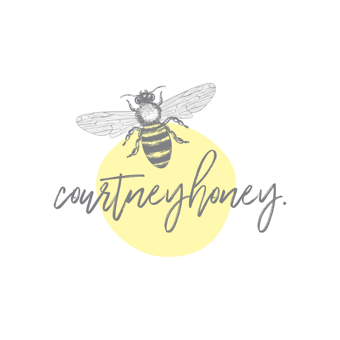 Bee logo design and blogger business branding by graphic designer Billie Hardy Creative
