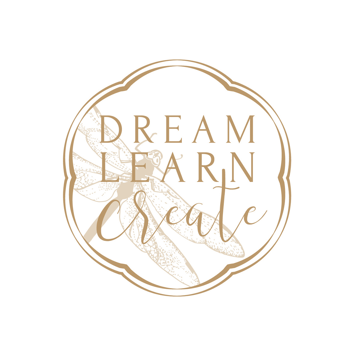 Dream Learn Create Logo Design by Billie Hardy Creative