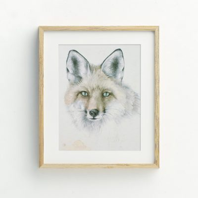 Bohemian Fox Nursery Illustrated Art Print by Tasmanian artist Lara Hardy From Billie Hardy Creative