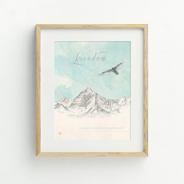 Bohemian freedom eagle illustrated art print by Tasmanian artist Lara Hardy From Billie Hardy Creative