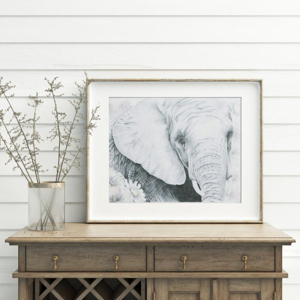 Bohemian elephant Nursery art print by Tasmanian artist Lara Hardy From Billie Hardy Creative