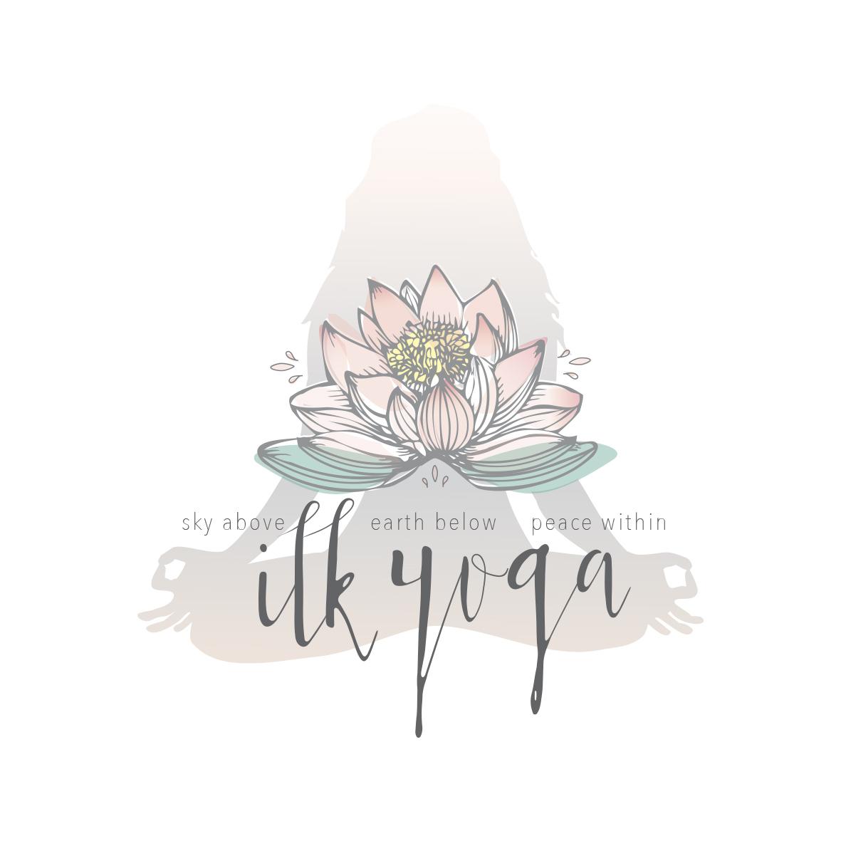 Beautiful Yoga logo design and Yoga business branding by graphic designer Lara Hardy from Billie Hardy Creative