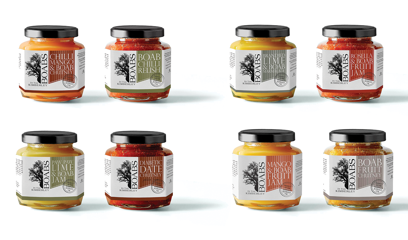 Boabs in The Kimberley Label Design by Billie Hardy Creative