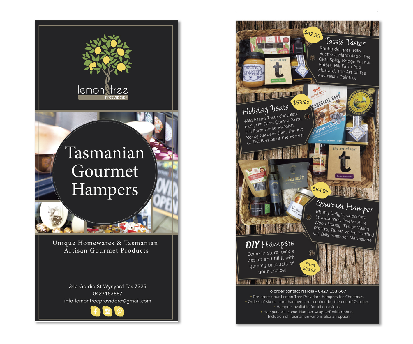 logo design and business branding and print design by graphic designer Lara Hardy from Billie Hardy Creative