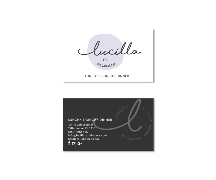 professional restaurant logo design and business card branding by Tasmanian graphic designer Lara Hardy from Billie Hardy Creative