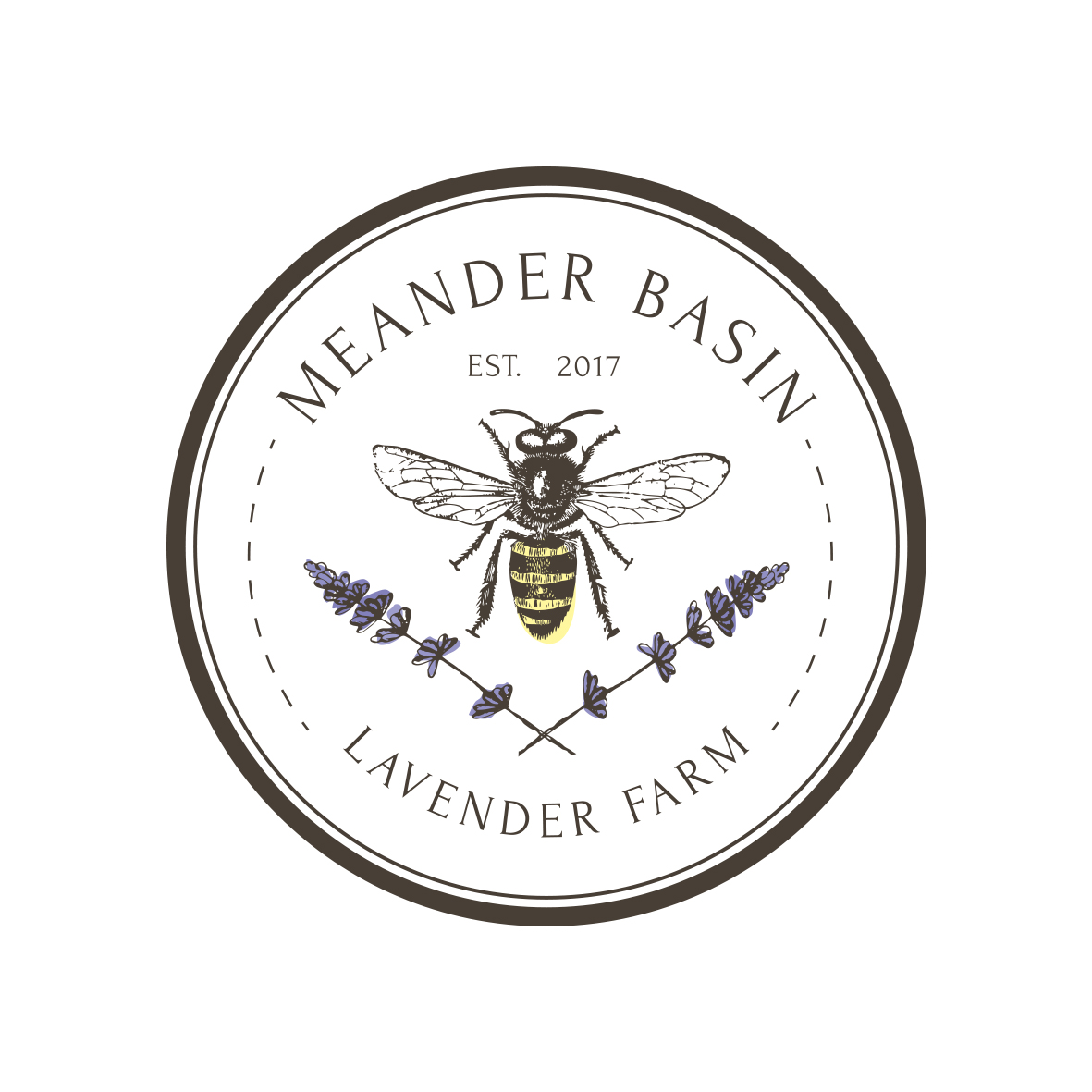 Meander Basin Lavender Farm Logo Design by Billie Hardy Creative