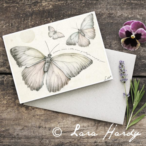 Butterfly Girls Baby Shower art card by Tasmanian artist Lara Hardy From Billie Hardy Creative