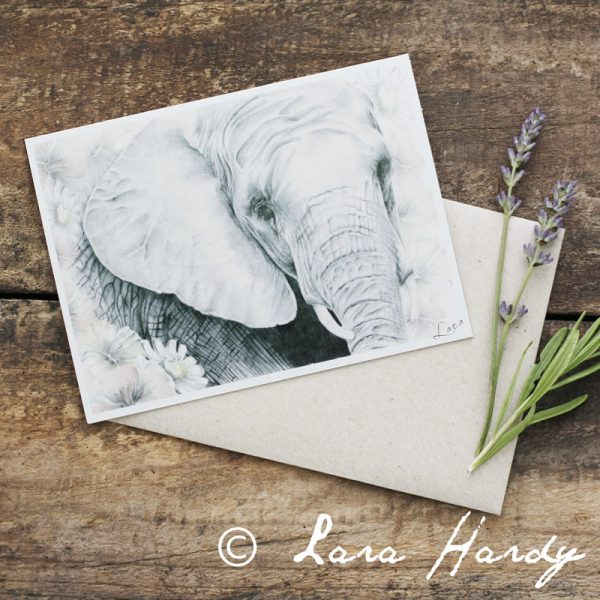 Bohemian elephant Nursery art card by Tasmanian artist Lara Hardy From Billie Hardy Creative