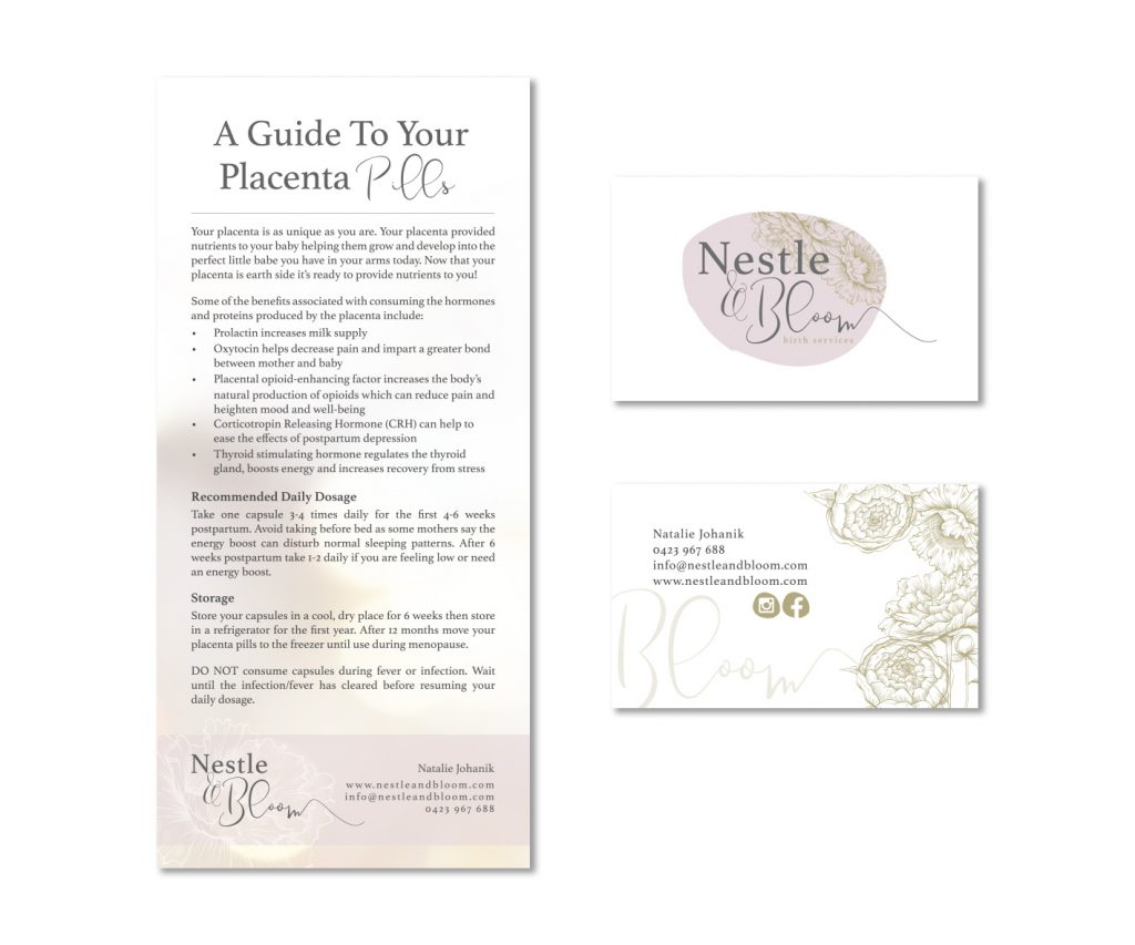 Nestle and Bloom Stationery Design by Billie Hardy Creative