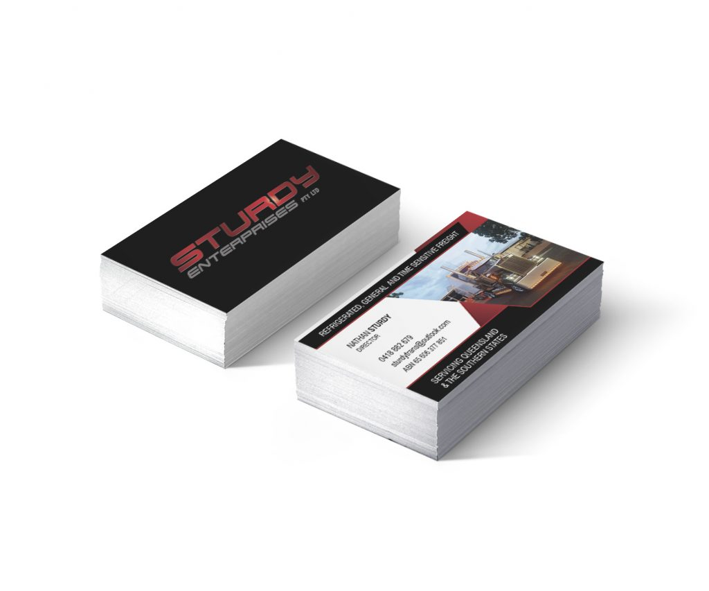 Sturdy Enterprises Queensland Business Card Design by Billie Hardy Creative