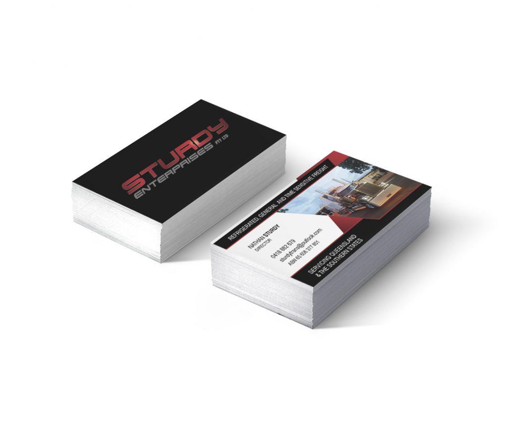 Sturdy Enterprises Queensland Business Card Design by Billie Hardy Creative