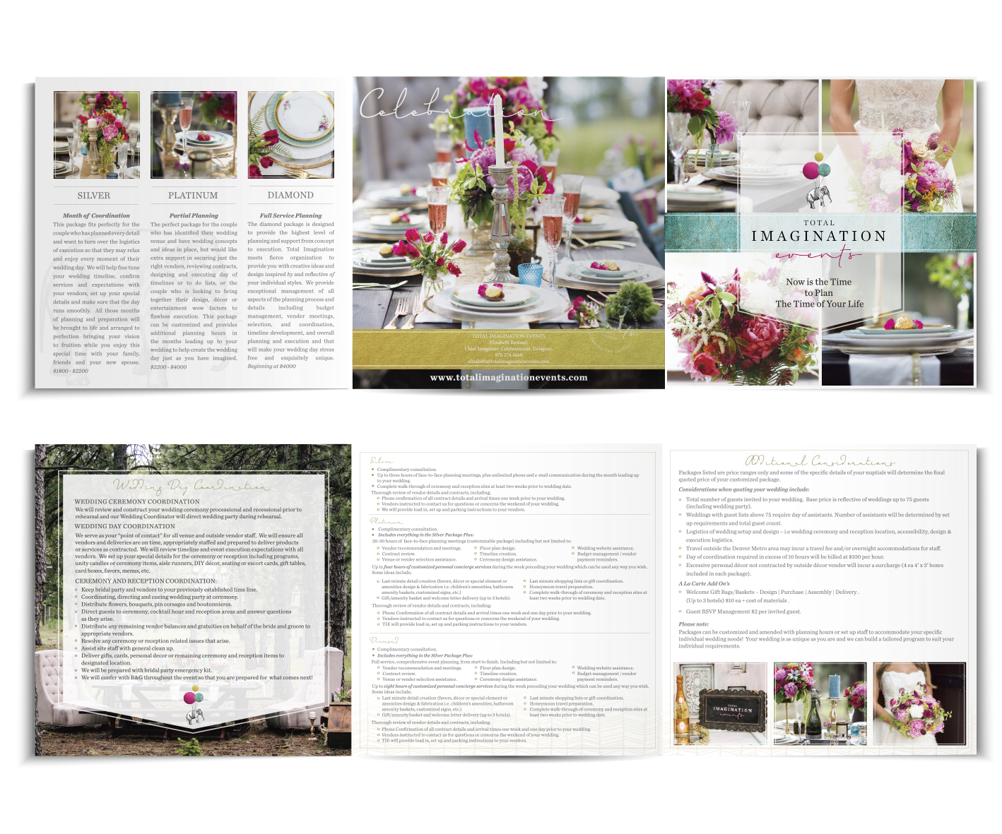 Wedding design branding and Wedding brochure design by graphic designer Billie Hardy Creative