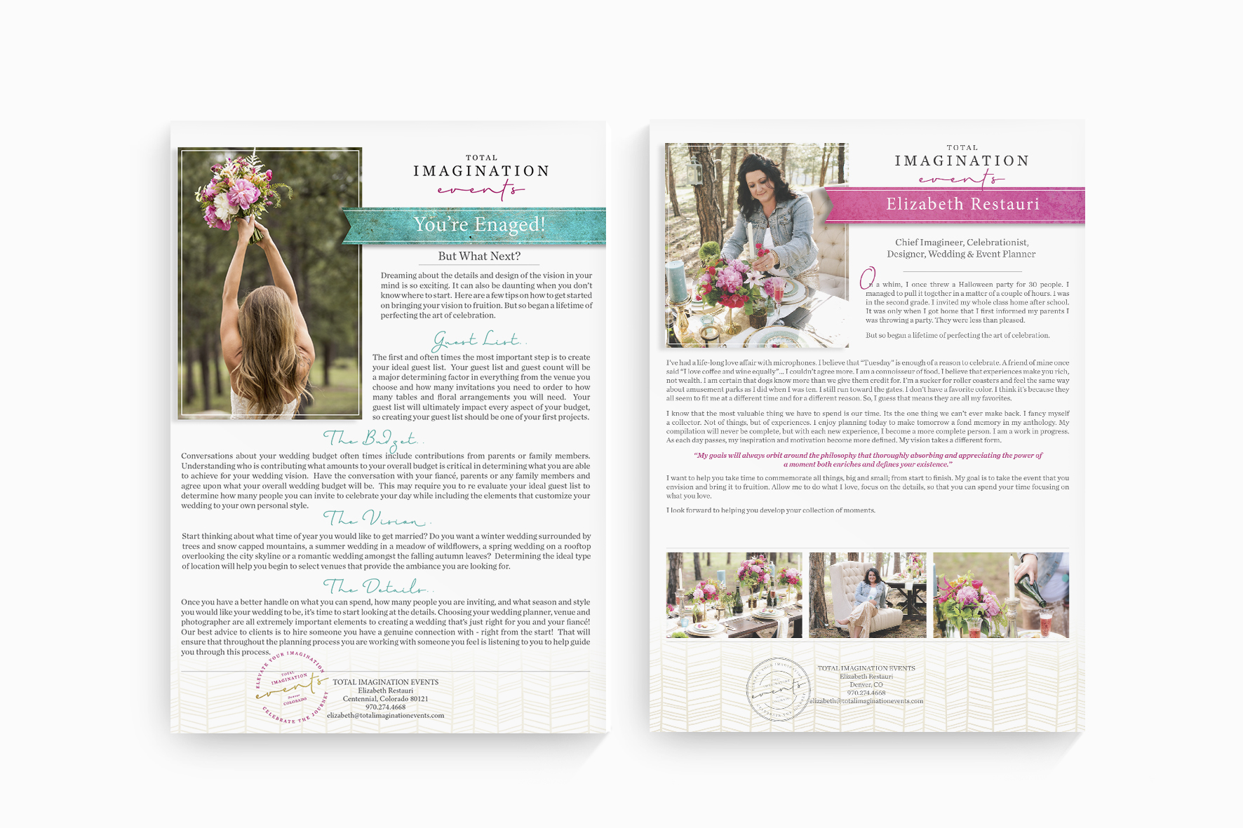 Total Imagination Events Colorado Design by Billie Hardy Creative