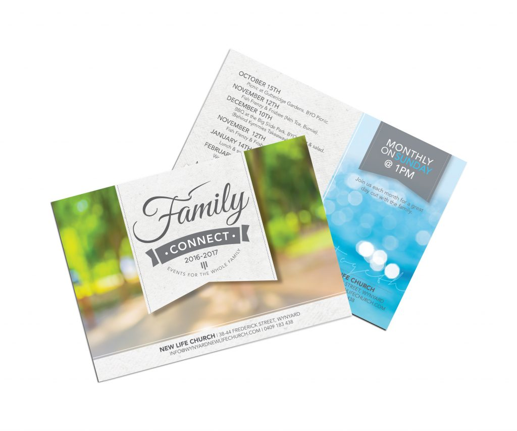 Wynyard New Life Church Postcard Design by Billie Hardy Creative