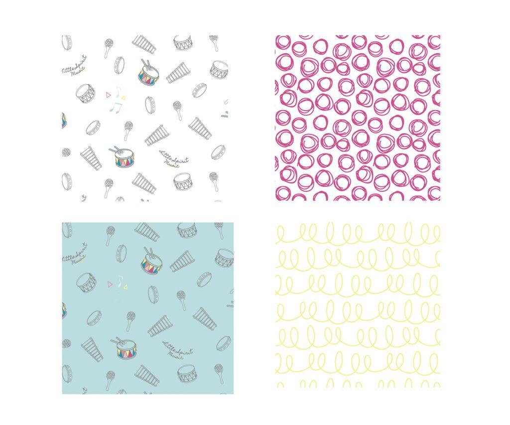 Little Spirit Music - Pattern Design Billie Hardy Creative