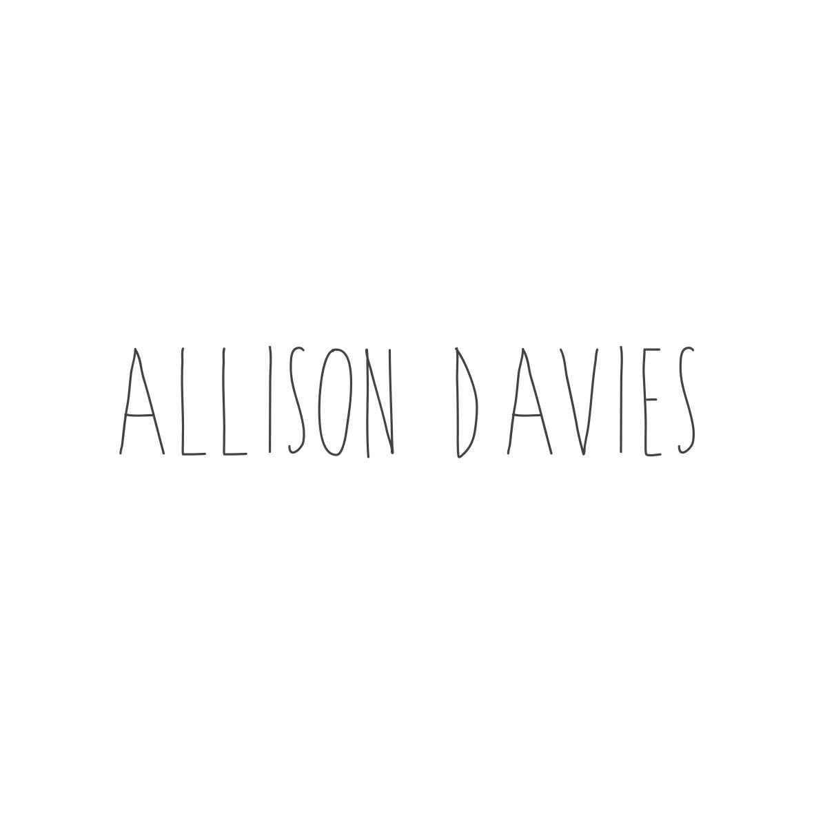 Allison Davies Logo Design by Billie Hardy Creative