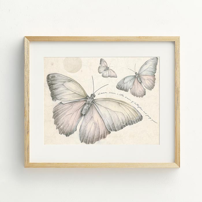 Butterflies & Faery Queen Hand Drawn Illustration by Billie Hardy Creative