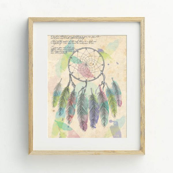 Bohemian Nursery Dream Catcher art print by Lara Hardy from Billie Hardy Creative
