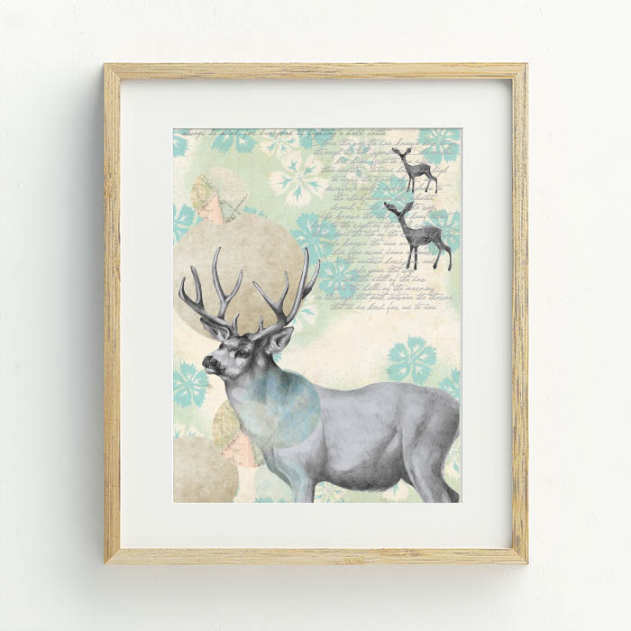 Doe Dreaming Hand Drawn Illustration by Billie Hardy Creative