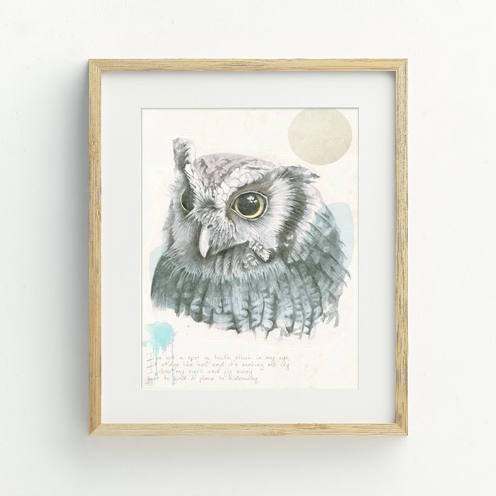 Hoo Are You Hand Drawn Illustration by Billie Hardy Creative