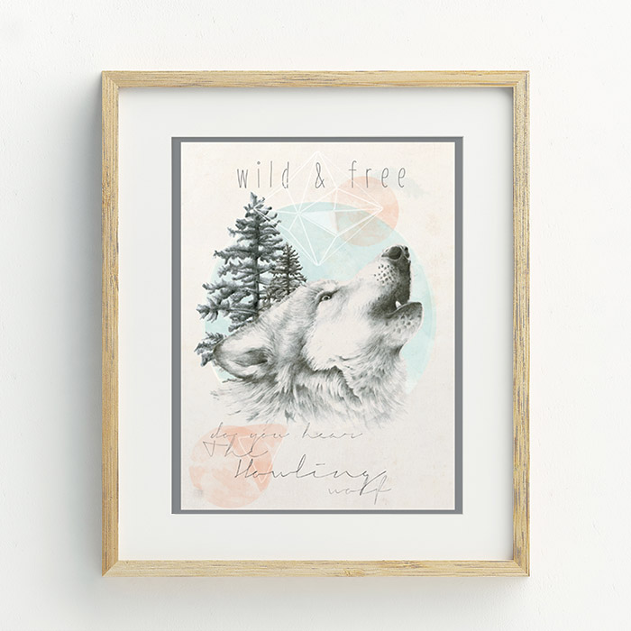 Do You Hear The Howling Wolf Hand Drawn Illustration by Billie Hardy Creative