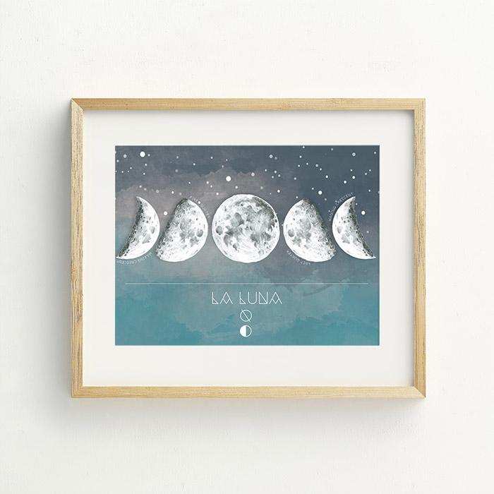 Vivir En La Luna Hand Drawn Illustration by Billie Hardy Creative