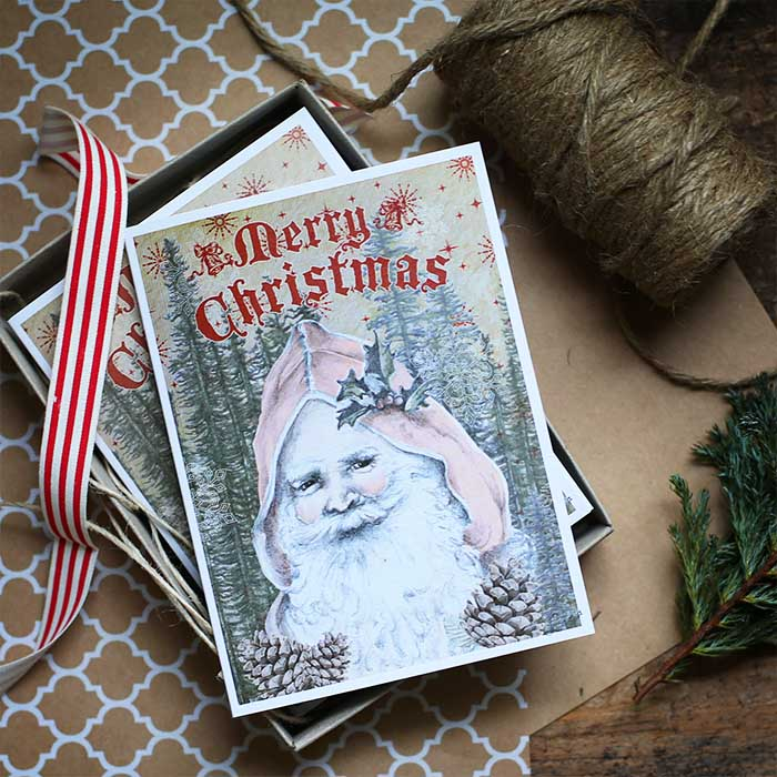 Merry Christmas Christmas Card Hand Drawn Illustration by Billie Hardy Creative