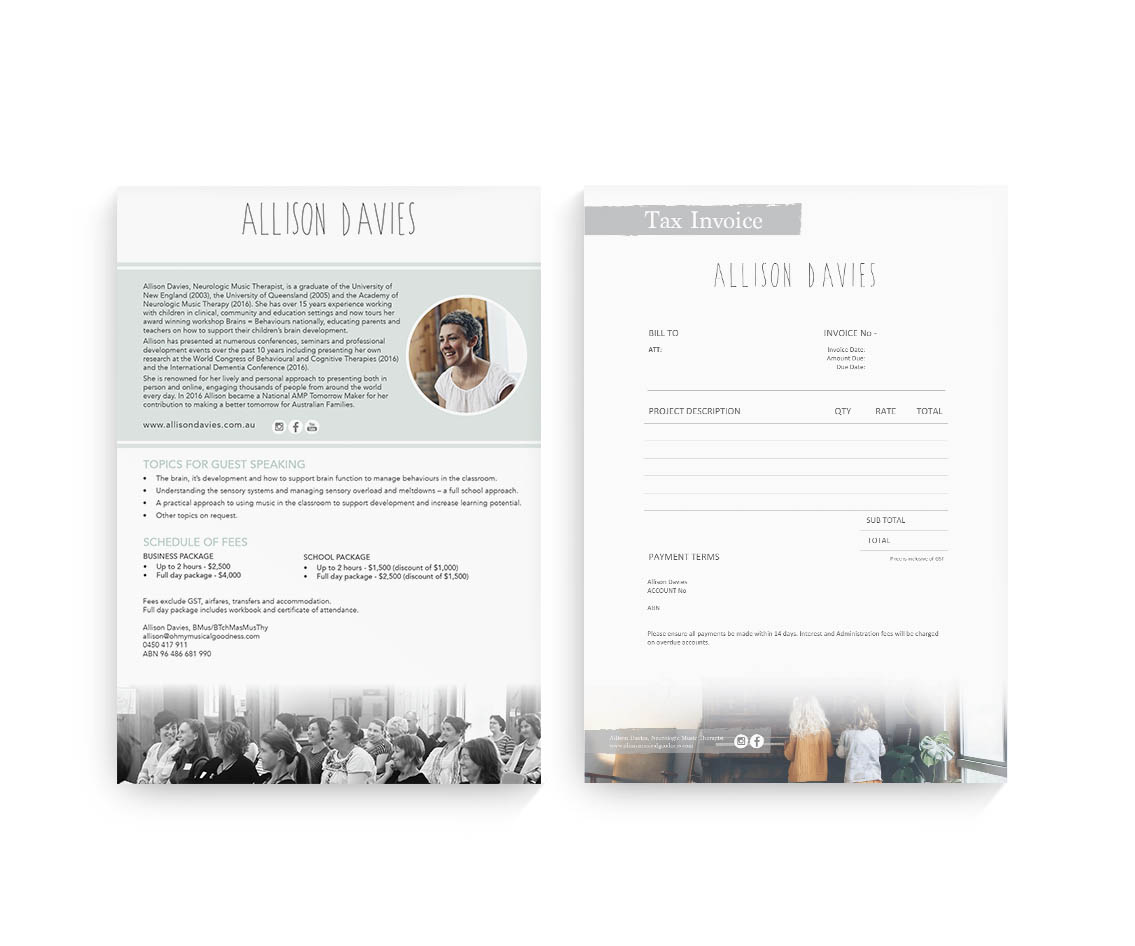 Allison Davies Document Design by Billie Hardy Creative