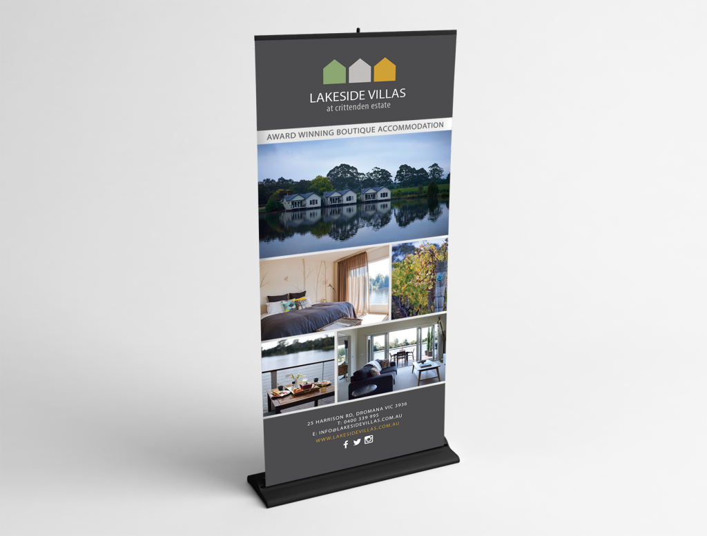 Luxury Vineyard Accomodation Company Logo and Pull Up Banner Design by Billie Hardy Creative