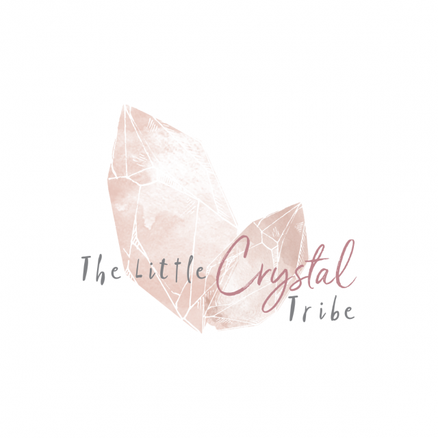 Bohemian Watercolour Healing Crystal Logo Design by Tasmanian graphic designer Lara Hardy from Billie Hardy Creative