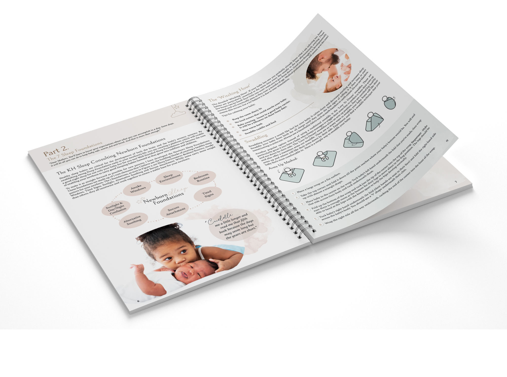 KH Sleep Consulting Newborn Sleep Guide Design by Billie Hardy Creative