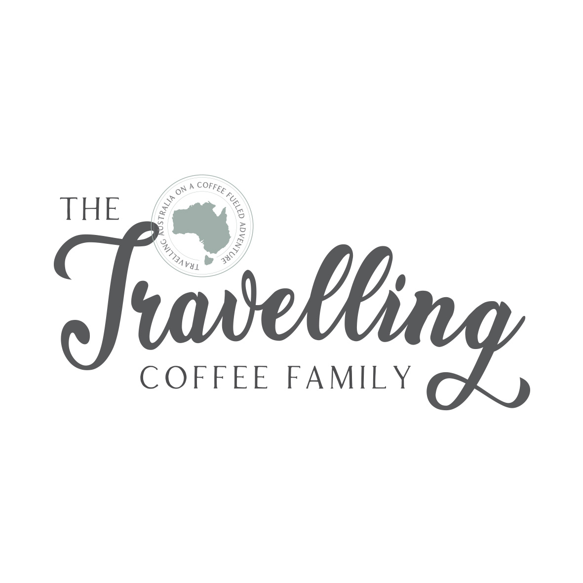 Travel Logo design for The Travelling Coffee Family by Billie Hardy Creative