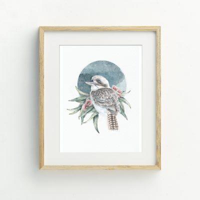 Joyful Noise Kookaburra Illustrated Art Print by Billie Hardy Creative